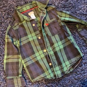 Carters toddler plaid button down